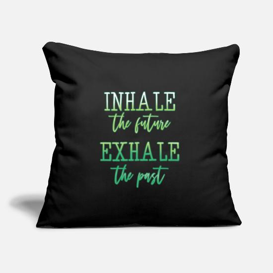 "Meditation Pillow Cases - Meditation - Throw Pillow Cover 18"" x 18"" black"