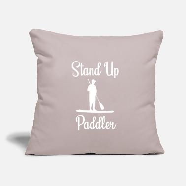 "Excited Stand Up Paddler - Throw Pillow Cover 18"" x 18"""