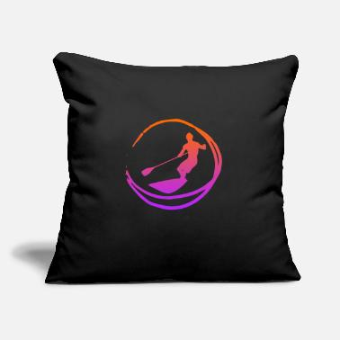 "Kayak SUP Logo Stand up Paddle Gift Wave Ocean - Throw Pillow Cover 18"" x 18"""
