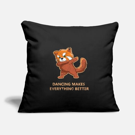 "Wild Pillow Cases - Dubbing Red Panda - Throw Pillow Cover 18"" x 18"" black"