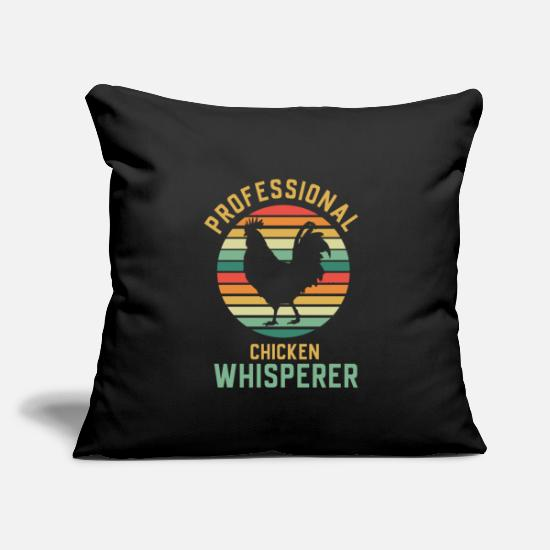 "Butcher Pillow Cases - Chicken Rooster Chicks Stall Farmer Retro Rooster - Throw Pillow Cover 18"" x 18"" black"