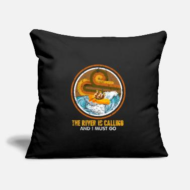 "Storm Rafting - Throw Pillow Cover 18"" x 18"""