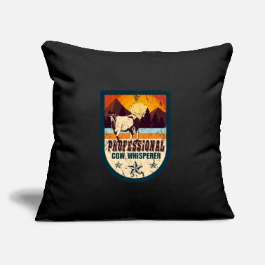"Cow Cow farm animal gift - Throw Pillow Cover 18"" x 18"""