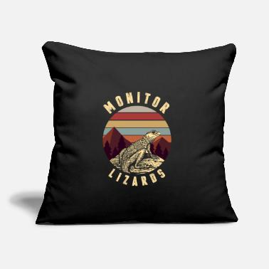 "Monitoring Monitor Lizard - Throw Pillow Cover 18"" x 18"""