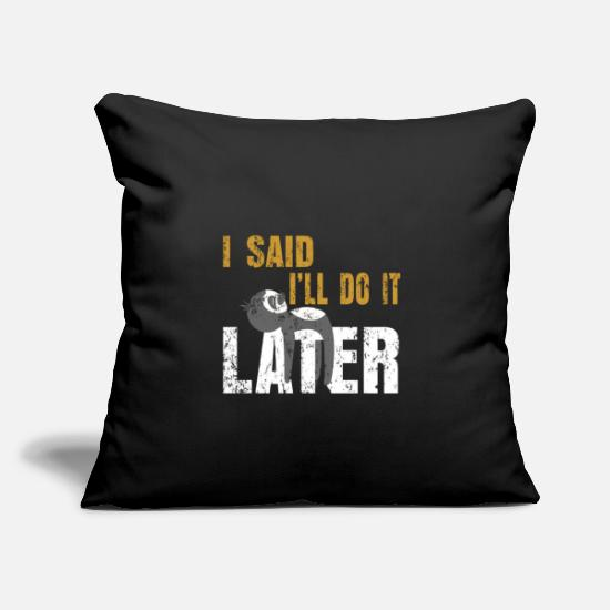 "Wild Pillow Cases - Sloth sleeping hanging out - Throw Pillow Cover 18"" x 18"" black"