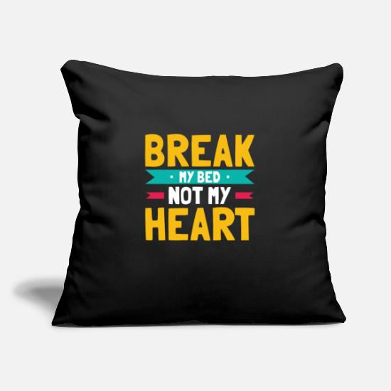 "Bed Pillow Cases - Bed Humor - Throw Pillow Cover 18"" x 18"" black"
