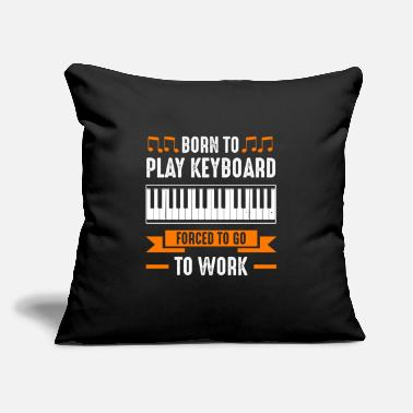 "Musical Instruments Keyboard Music Teacher Keyboardist Pianist - Throw Pillow Cover 18"" x 18"""