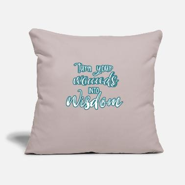 "Wisdom Wisdom - Throw Pillow Cover 18"" x 18"""