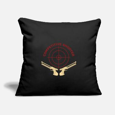 "Sports Sports Shooting - Throw Pillow Cover 18"" x 18"""