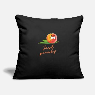 "Just peachy - Throw Pillow Cover 18"" x 18"""