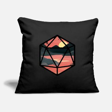 "Person Sunset D20 - Throw Pillow Cover 18"" x 18"""