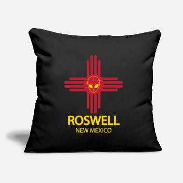 "Roswell New Mexico Alien New Mexico - Throw Pillow Cover 18"" x 18"""