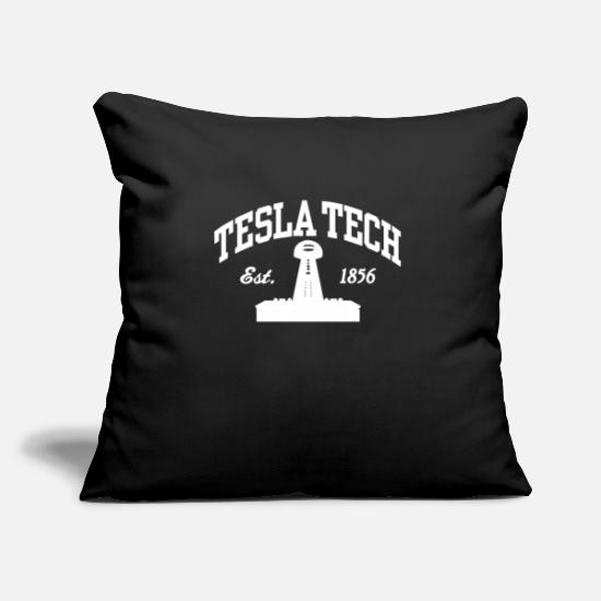 "Tesla Pillow Cases - Tesla Tech - Throw Pillow Cover 18"" x 18"" black"