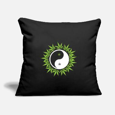 "Consumer Yin Yang high weed - Throw Pillow Cover 18"" x 18"""