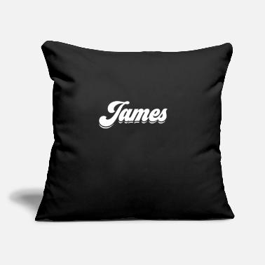 "James Charles My Name is James Gift Idea - Throw Pillow Cover 18"" x 18"""