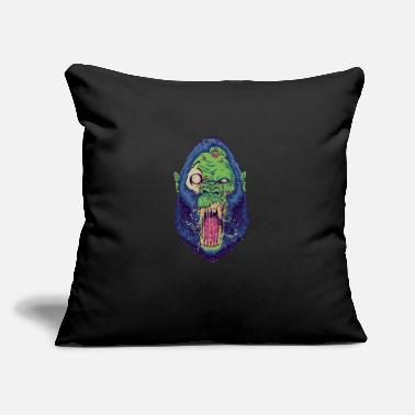 "Chimpanzee Monkey Gorilla Monster Scared - Throw Pillow Cover 18"" x 18"""