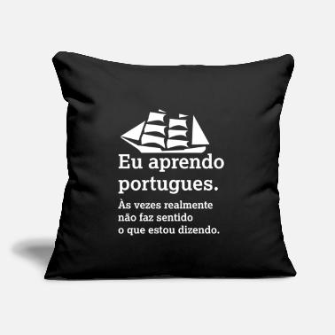 "Portuguese I Learn Portuguese - Throw Pillow Cover 18"" x 18"""