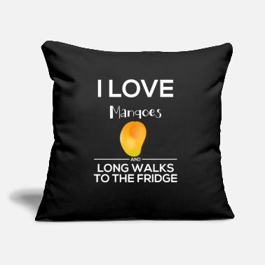 "Chicago I Love Mangoes and Long Walks to the Fridge v1 - Throw Pillow Cover 18"" x 18"""