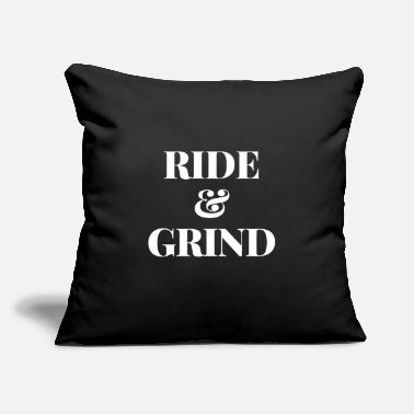 "Cycling RIDE AND GRIND - Throw Pillow Cover 18"" x 18"""