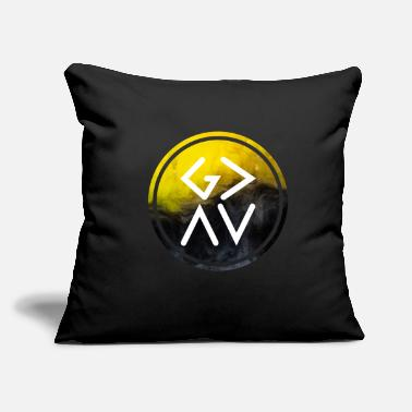 "God Is Greater Than Highs And Lows God Is Greater Than The Highs And Lows, Black - Throw Pillow Cover 18"" x 18"""