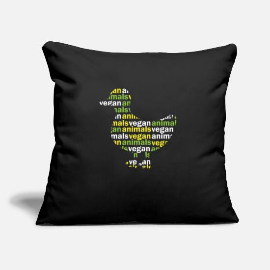 "Ducky Pillow Cases - vegan - Throw Pillow Cover 18"" x 18"" black"