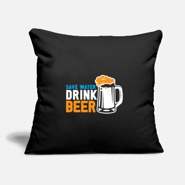 "Drink Save Water Drink Beer Gift Bug - Throw Pillow Cover 18"" x 18"""