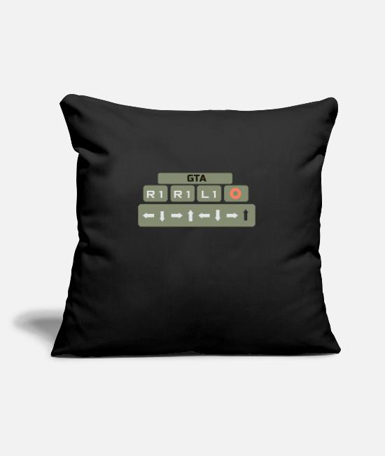 "Design Pillow Cases - ""HEALTH UP"" - Throw Pillow Cover 18"" x 18"" black"