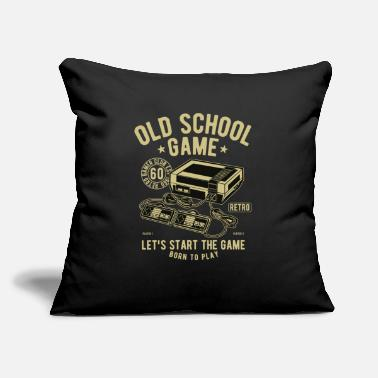 "Fps Old School Game - Born To Play Retro Gaming - Throw Pillow Cover 18"" x 18"""