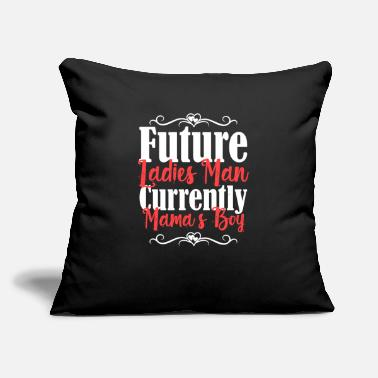 "Bigfoot Thanksgiving Day Future Ladies Man Currently Mamas Boy - Throw Pillow Cover 18"" x 18"""