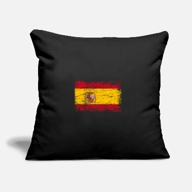 "Spain Spain Spanish banner flag used look - Throw Pillow Cover 18"" x 18"""