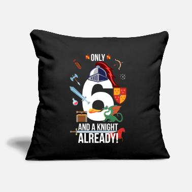 "6th Birthday Boy Only 6 And A Knight Already - Throw Pillow Cover 18"" x 18"""