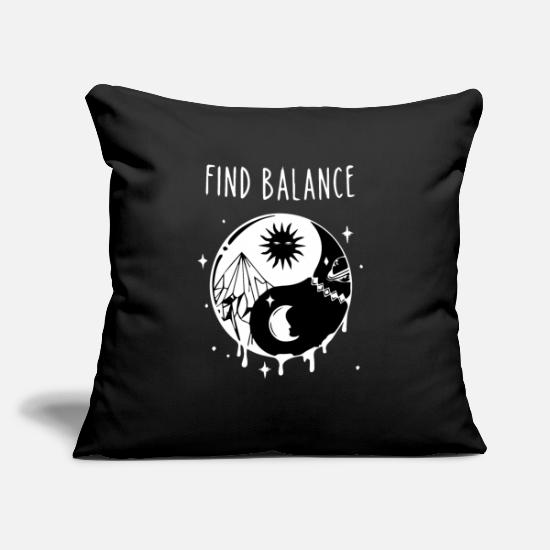 "Training Pillow Cases - Fitness - Throw Pillow Cover 18"" x 18"" black"