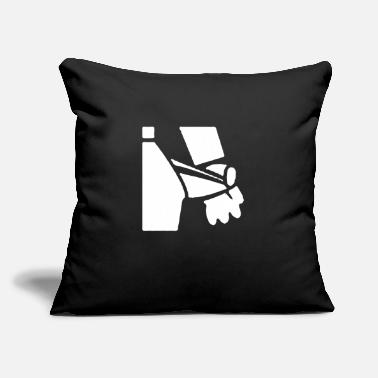"Empty Empty Bag - Throw Pillow Cover 18"" x 18"""
