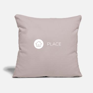 "Places Of Interest Place Icon - Throw Pillow Cover 18"" x 18"""