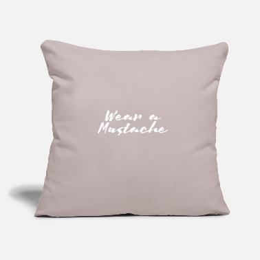 "Wear Wear A Mustache - Throw Pillow Cover 18"" x 18"""