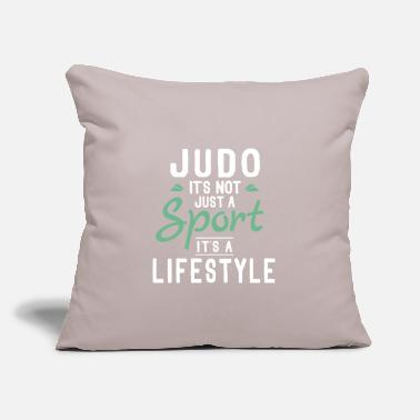 "Meme Funny Unique Judo Themed Jokes Quotes Memes Gifts - Throw Pillow Cover 18"" x 18"""