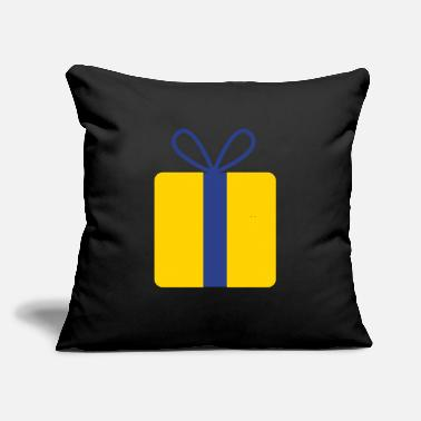 "Present present gift with bow - Throw Pillow Cover 18"" x 18"""