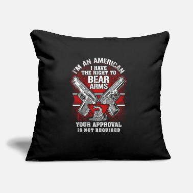 "Gun Gun Control Right To Bear Arms - Throw Pillow Cover 18"" x 18"""