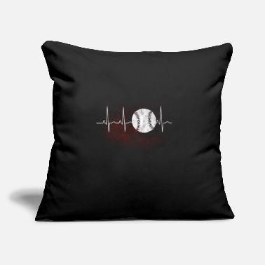"Players Gift for baseball players with heart - Throw Pillow Cover 18"" x 18"""