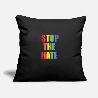 "Stop The Hate STOP THE HATE Gay Lesbian LGBT Pride T Shirt - Throw Pillow Cover 18"" x 18"""