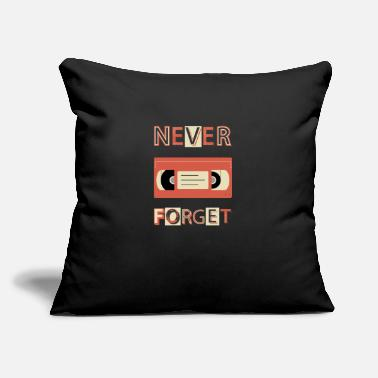 "Vhs Tapes VHS Never Forget Cassette Tape Retro Vintage - Throw Pillow Cover 18"" x 18"""