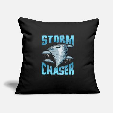 "Severe Weather Cute Storm Chaser Severe Weather Tornado Obsessed - Throw Pillow Cover 18"" x 18"""