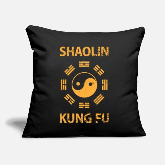 "Shaolin Pillow Cases - Shaolin Kung Fu - Throw Pillow Cover 18"" x 18"" black"