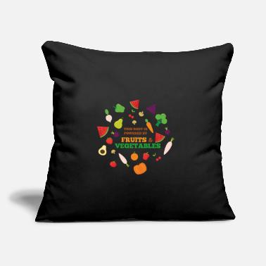"Fruits And Vegetables Powered by Fruits and Vegetables - Throw Pillow Cover 18"" x 18"""