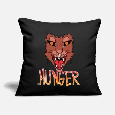 "Hunger Hunger - Throw Pillow Cover 18"" x 18"""