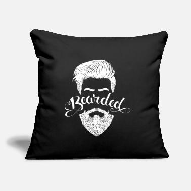 "Beard Bearded - Throw Pillow Cover 18"" x 18"""