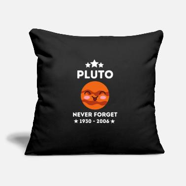 "Throne Pluto Never Forget - Cool Space - Funny Pluto - Throw Pillow Cover 18"" x 18"""