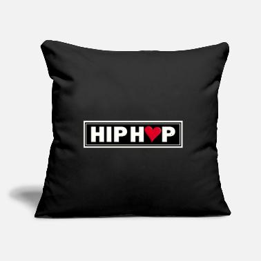 "Hop HIP HOP - Throw Pillow Cover 18"" x 18"""