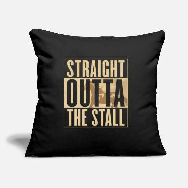 "Stall Horse Straight Outta The Stall Equestrian - Throw Pillow Cover 18"" x 18"""