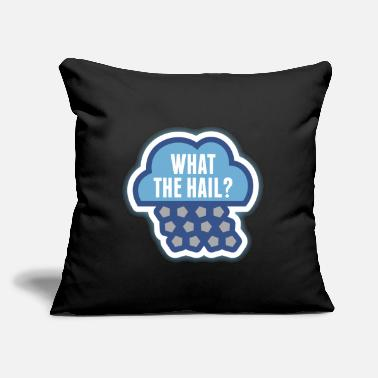 "What The Hail Meteorology Tshirt - Throw Pillow Cover 18"" x 18"""